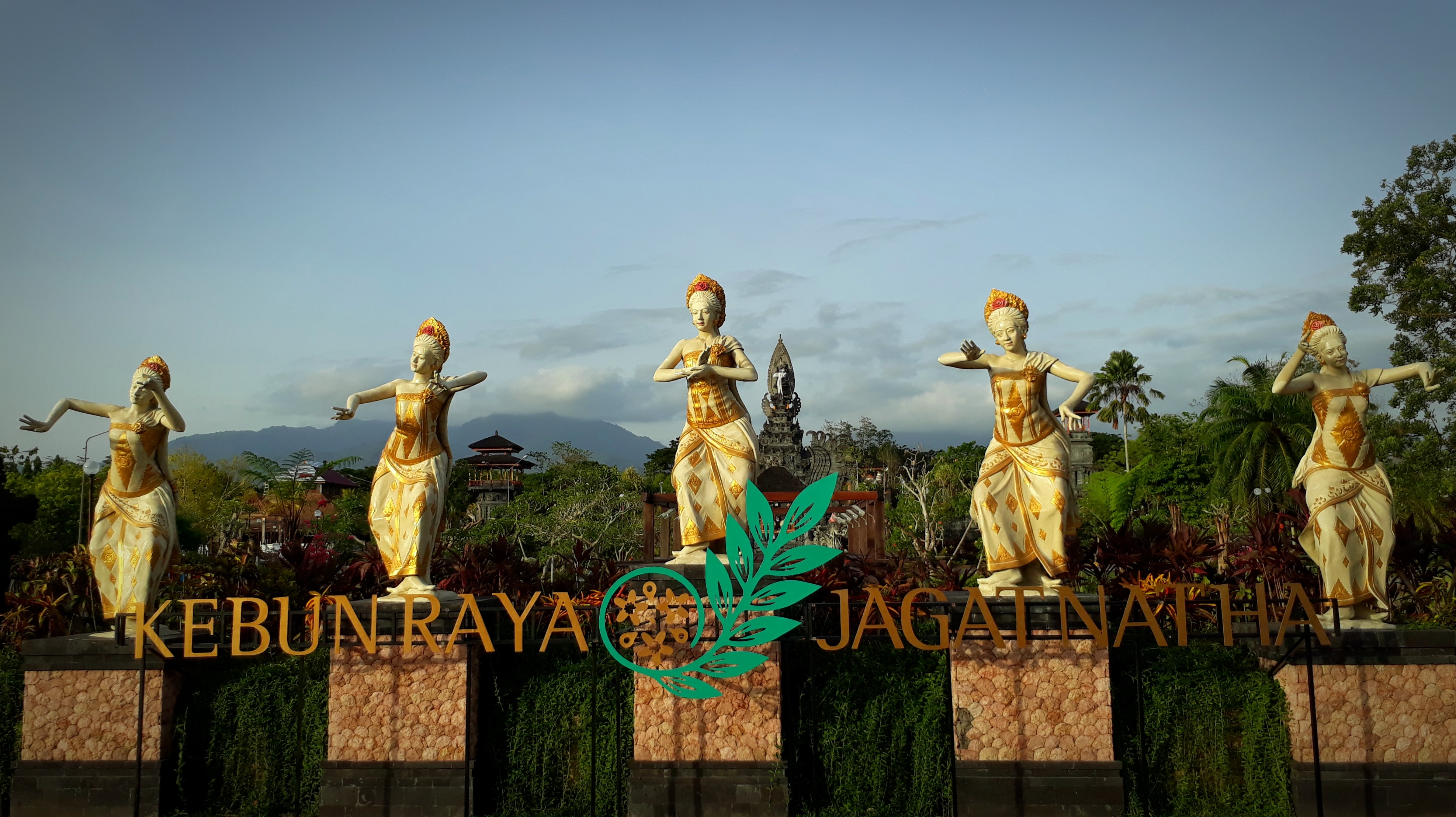 The great view of Jagatnatha Botanic Gardens, Negara,  Jembrana Regency, Bali, Indonesia that will be officially innaugurated on December 5, 2019